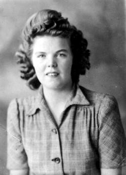 Studio Portrait Young Woman 1940s