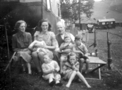 Family On An Holiday Outing To Their Chalet 1940s