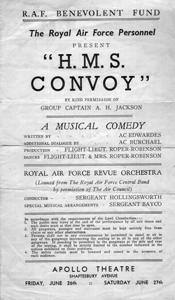 "Newspaper Cutting Of A Musical Comedy ""HMS Convoy"" 1940s"