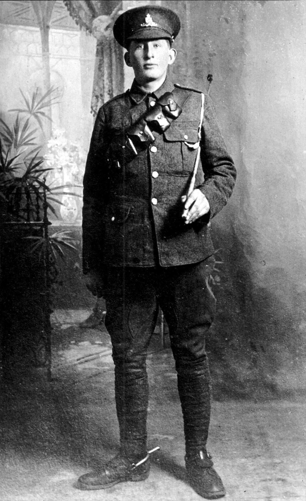 Studio Portrait Royal Artillery Soldier c.1916