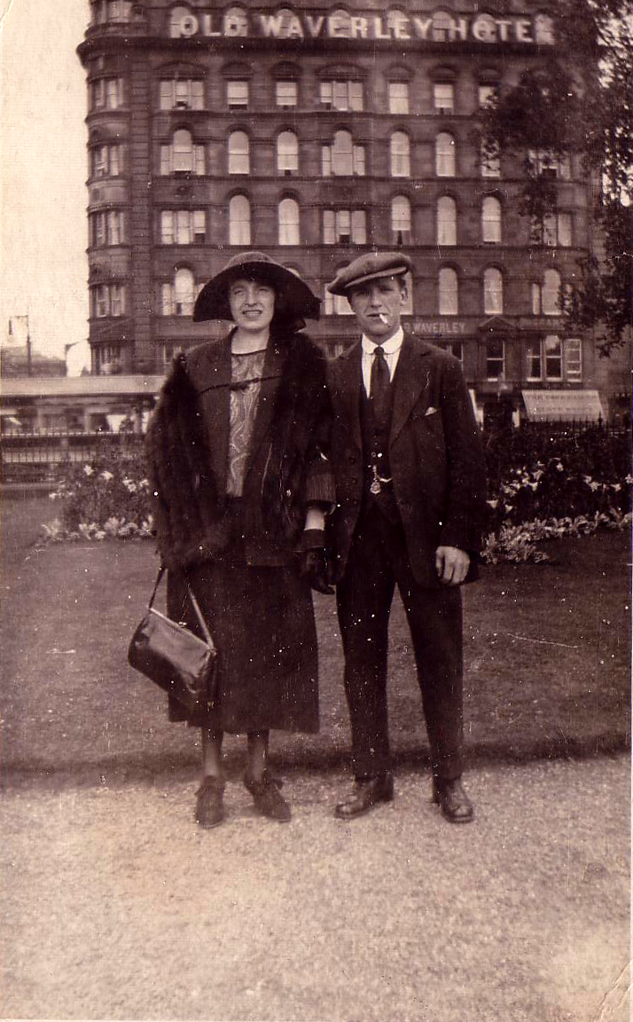 Couple Standing In East Princes Street Gardens 1920s
