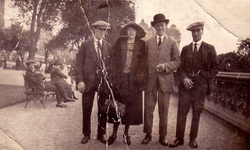 Three Men And A Lady In East Princes Street Gardens 1920s