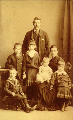 Studio Portrait Victorian Family 1880s