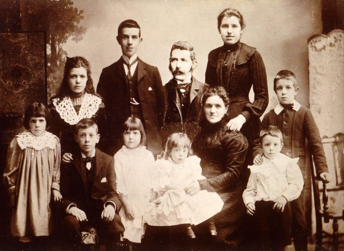 Studio Portrait Victorian Family Montage 1890s