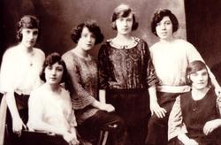 Studio Portrait Six Women 1920s