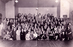Large Group Celebrating Unknown Event 1950s
