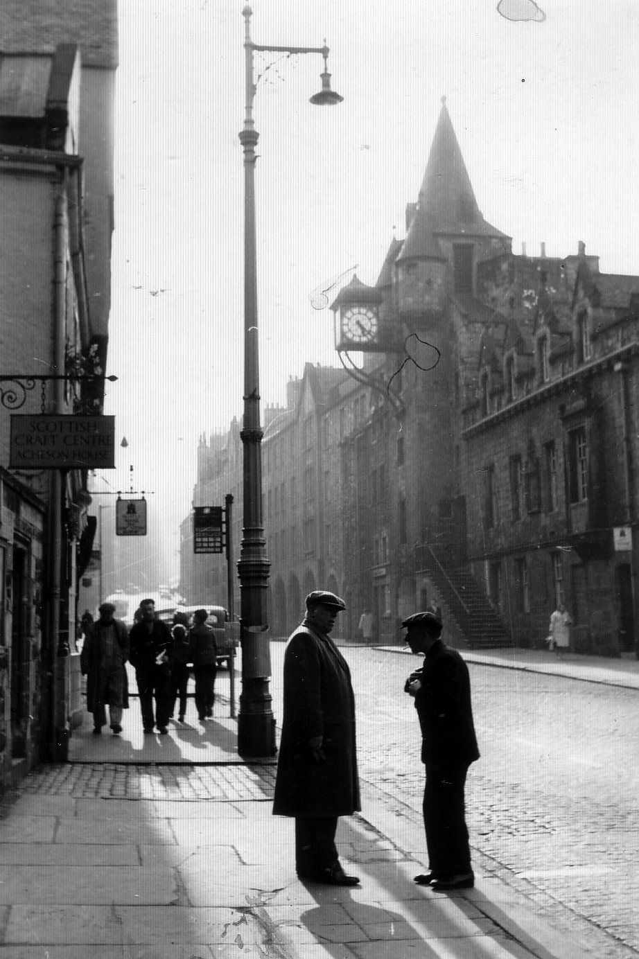The Canongate With Tolbooth in Background 1950s