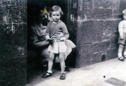 Woman With Young Girl In Tenement Doorway c.1950