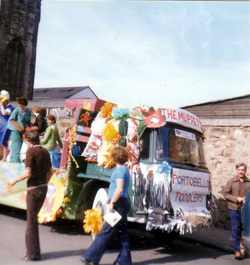 About To Dress Up As Muppets For Float At Portobello Gala Day 1980s