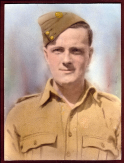 Colour Tinted Portrait Of Soldier 1940s