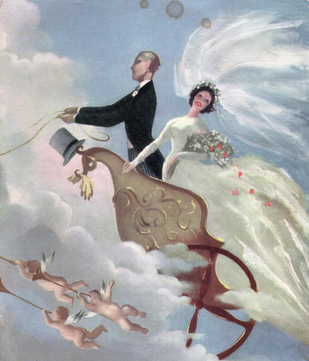 Illustration From Wedding Telegram c.1963