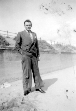 Gentleman In Suit At The Seaside, early 1950s