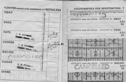 Pages Of Ration Book 1953