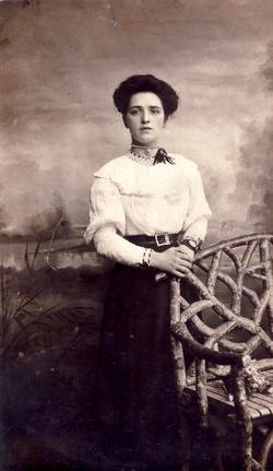 Studio Portrait Young Woman 1910
