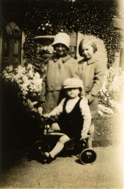 Three Children At Play In Starbank Park 1930s
