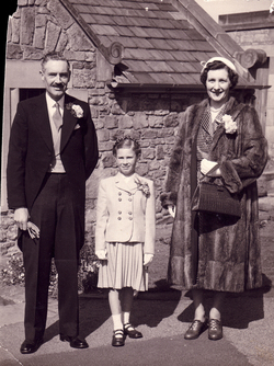 Family Attending A Wedding At St Mary's Cathedral c.1956
