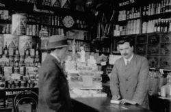 Interior Of WD McGregor, Provision Merchant, On Strathearn Road 1920s
