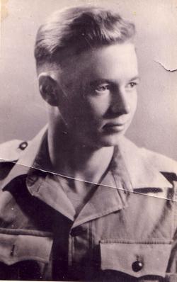 Portrait Young Soldier 1940s