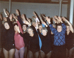 Over Sixties Keep Fit Class At The Calton Centre 1980s