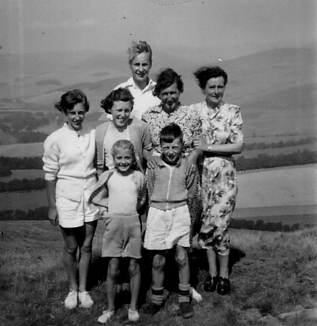 Family Group Out For Walk In Countryside 1950s
