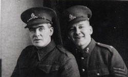 Studio Portrait Two Gunners Of The Royal Artillery c.1916