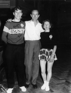 Rock 'n' Roll Dancing Couple With Compère At Ayr Butlin's Dance Contest c.1958