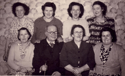 Group Portrait Seven Women And One Man 1950s