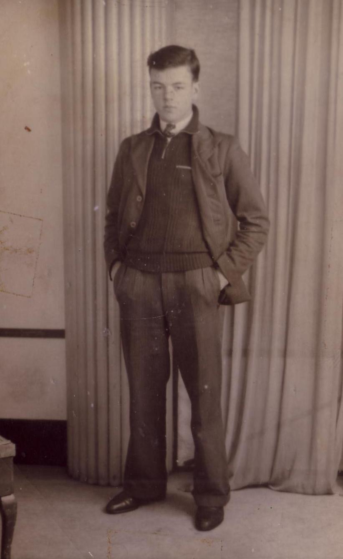 Studio Portrait Young Man Standing With Hands In Pocket 1930s