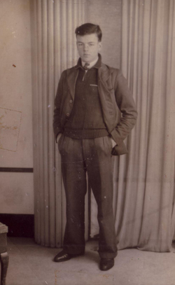 Studio Portrait Young Man Standing Hands In Pocket 1930s