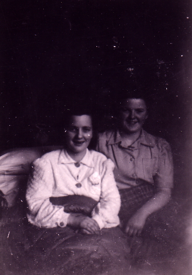 Girl In Bed With Friend At Her Side 1940s