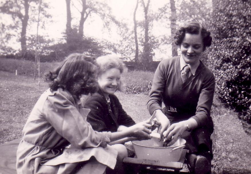 Preparing Food At Girl Guide Camp 1940s