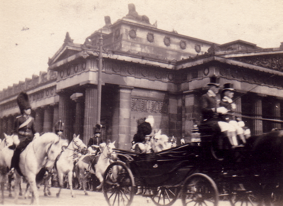 Royal Procession Outside The Royal Scottish Academy 1930s