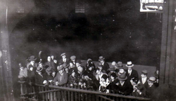 Well-Wishers On Pier As Ship Departs On Voyage 1930s