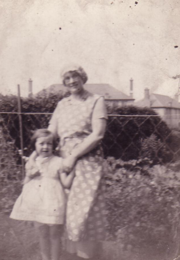Woman And Girl In The Back Garden, late 1930s