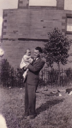 Father With Baby Daughter In The Park c.1934