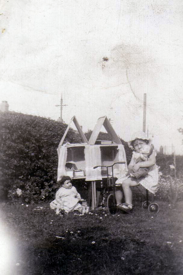 Young Girl Playing In The Back Green c.1936