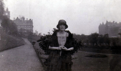 Woman Standing In East Princes Street Gardens 1930s