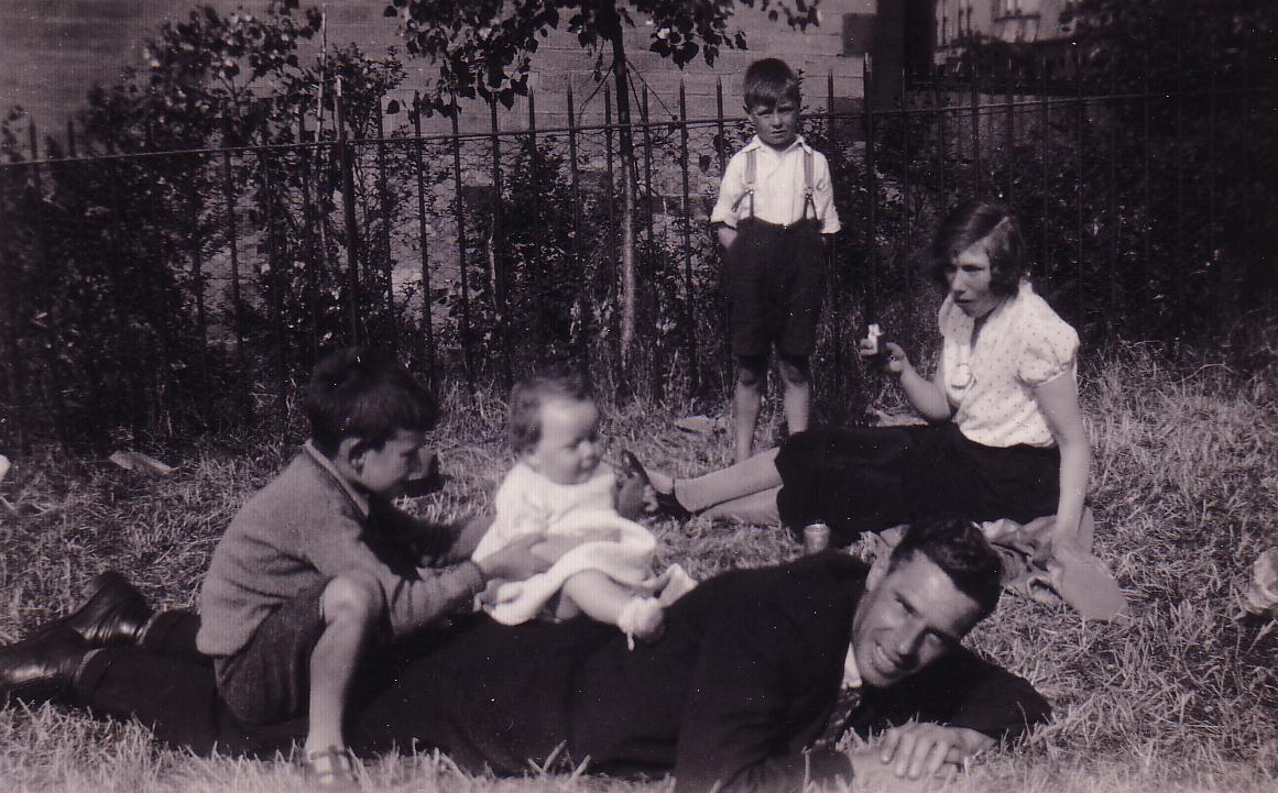 Family Playing In The Park 1930s