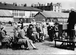 Outdoor Meeting At Pilrig Park 1930s