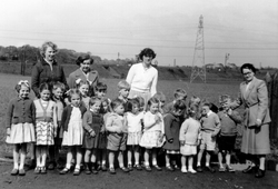 Nursery Staff With Playgroup Near Fort Kinnaird 1960s