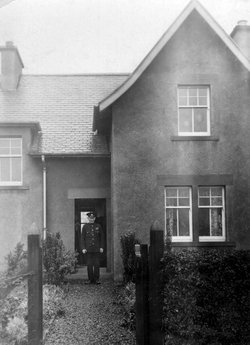 Prison Officer Standing Outside His Home At Saughton 1930s
