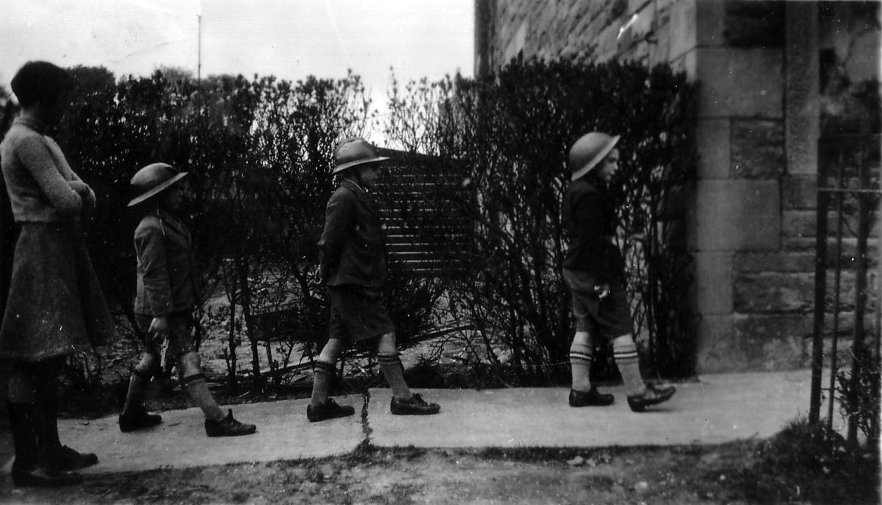 Three Schoolboys Playing At Being Soldiers 1930s