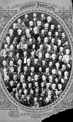 Photomontage One Hundred Selected Denizens Of Aberdeen c.1890