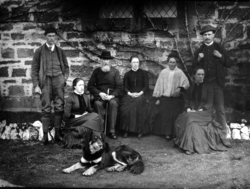 Family Group Sitting In Garden 1890s