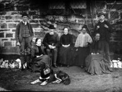Family Group Sitting In Garden 1890s