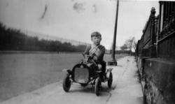 Boy In Pedal Car On Pentland Terrace c.1932
