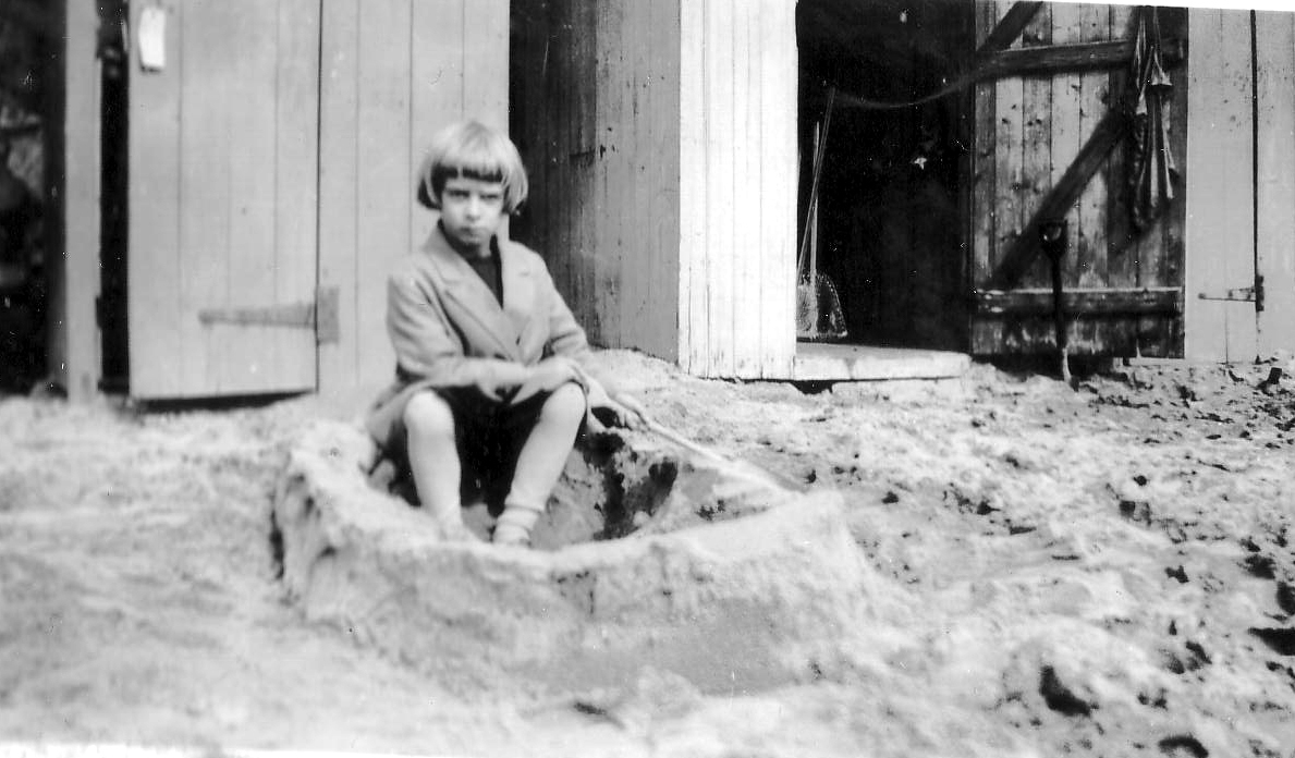 Girl Playing In The Sand, late 1930s