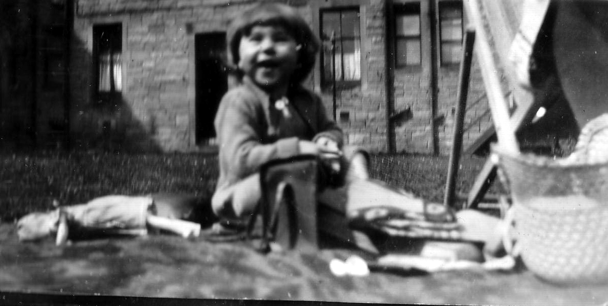 Young Girl Playing In The Back Green c.1933