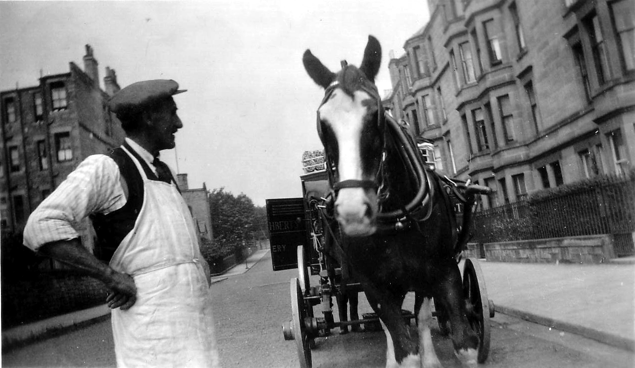 St Cuthberts Bakery Delivery Horse And Driver At Falcon Gardens c.1934