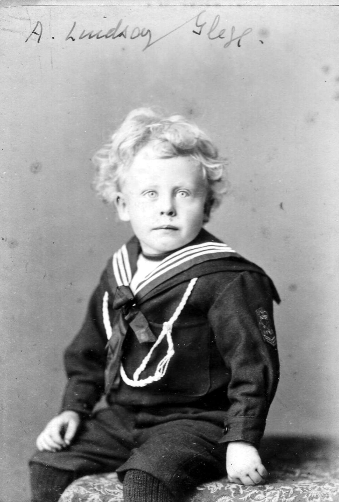 Studio Portrait Young Boy In Sailor Suit c.1887